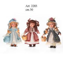 Bambole con Cesto cm.30