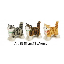Cat Standing with Sound cm.13 pack. pz.3