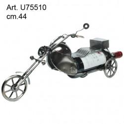 Porta Bottiglia Metallo Moto cm.44