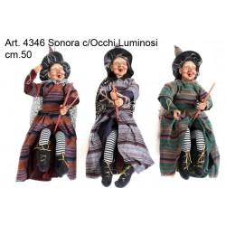 Befana Volante Sonora c/Occhi Luminosi cm.45