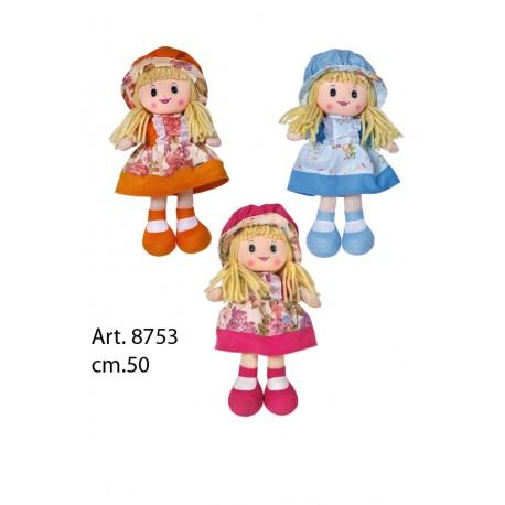Bambola Pezza cm.50 3 colori conf. pz. 3 ass.ti