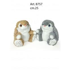 pel.  Coniglietto Morbidoso cm.25 conf. pz. 2 ass.ti
