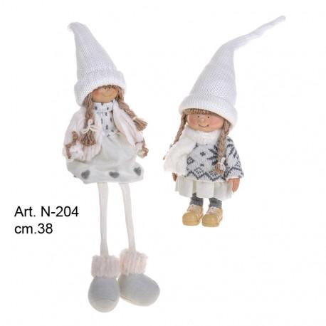 Bambini Natale White cm.38 conf. pz.2