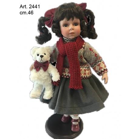 Bambola con sciarpa  cm.46  conf. pz. 1