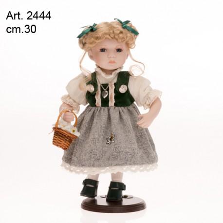 Bambola Vestito Tirolese Verde cm.30  conf. pz. 1