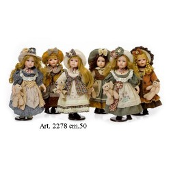 Art. 2278 cm.50 bambola Porcellana