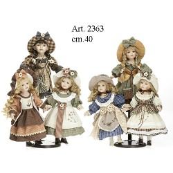 Set bambole 6 tipi, cm.40