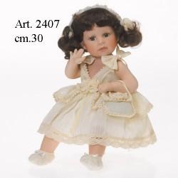 Bambola vestito beige cm.30 Seduta
