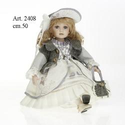 Bambola Victoria cm.50 Seduta