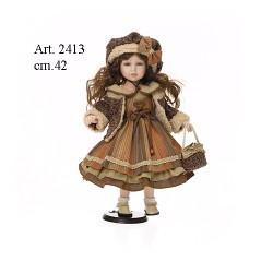 Bambola Vestito Marrone cm.42