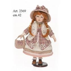 003598865b22 Bambola con cappello di stoffa cm.42