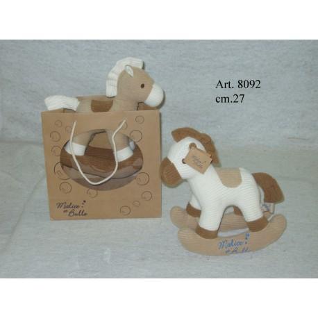 Cavallo A Dondolo In Peluche.Peluche Cavallo A Dondolo Con Sacco Cm 27 Luire
