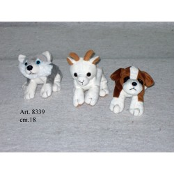 Stuffed animals dogs and ibexes cm.18
