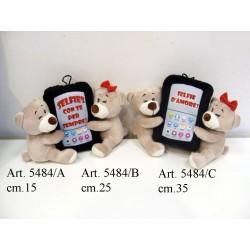 Pel. coppia orsi c/Telefono Medio cm.25