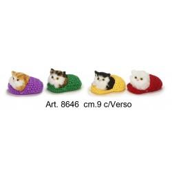 Kitten in Slipper with sound cm.9 pack. pz.4